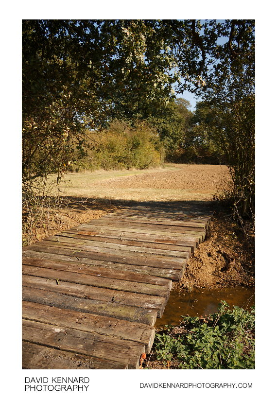Railway sleeper bridge