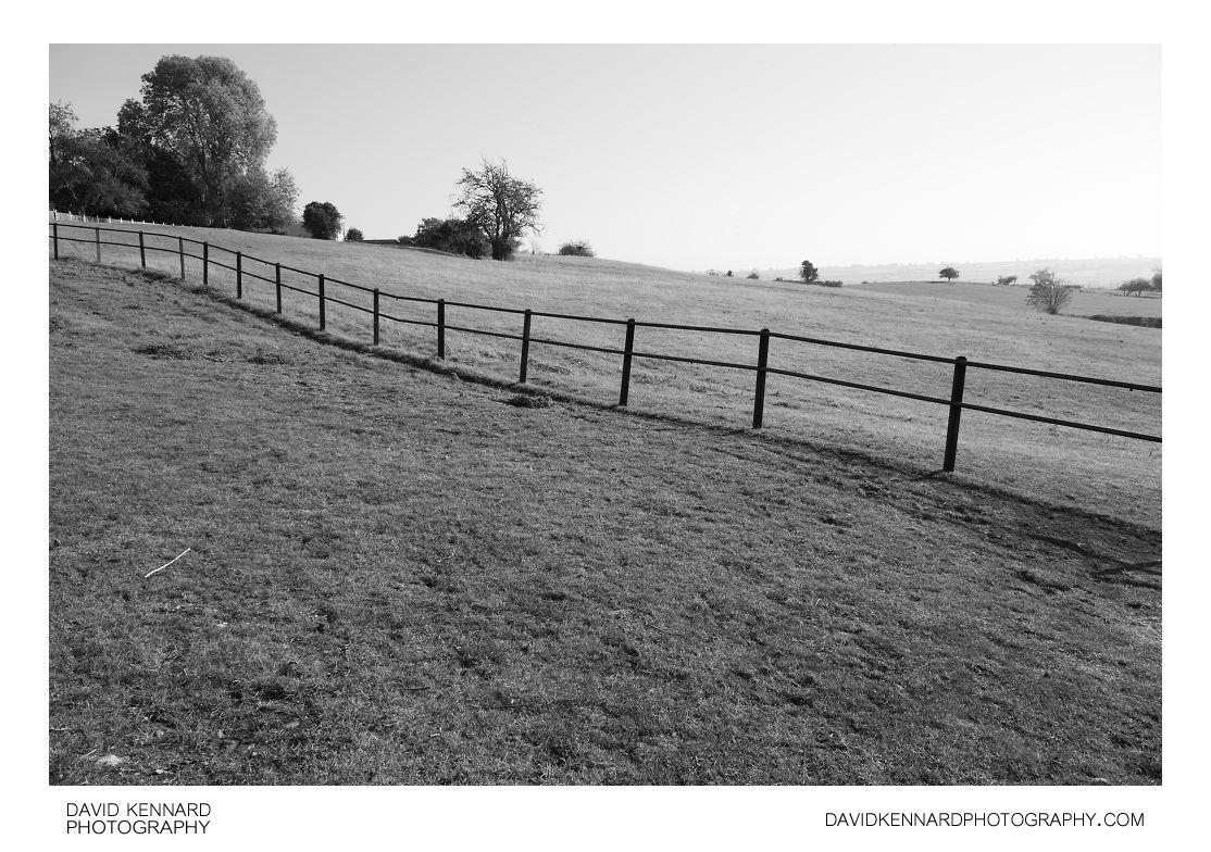 Fence and fields, Great Doddington