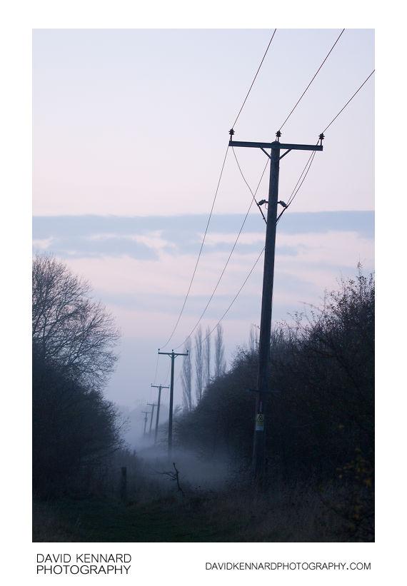 Mist down the old railway line