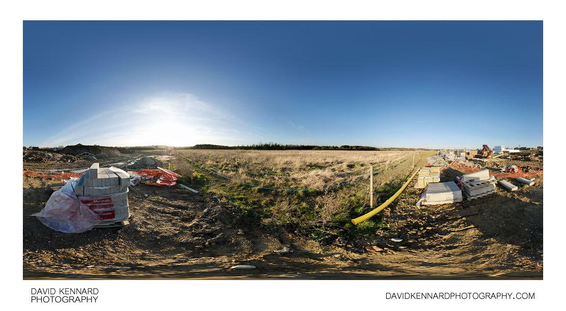 Building supplies at Farndon Fields Development