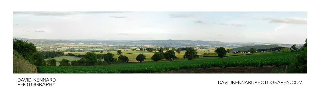 View east from Callow Hill