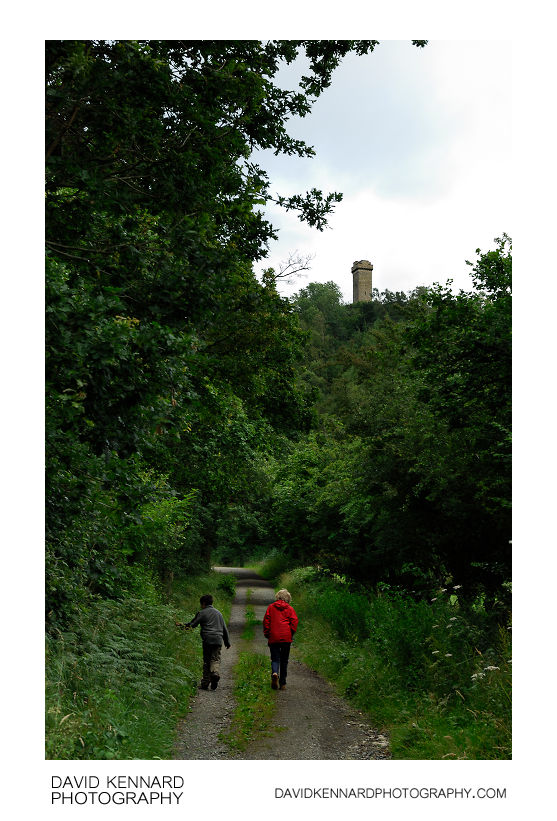 Walking up to Flounders' Folly
