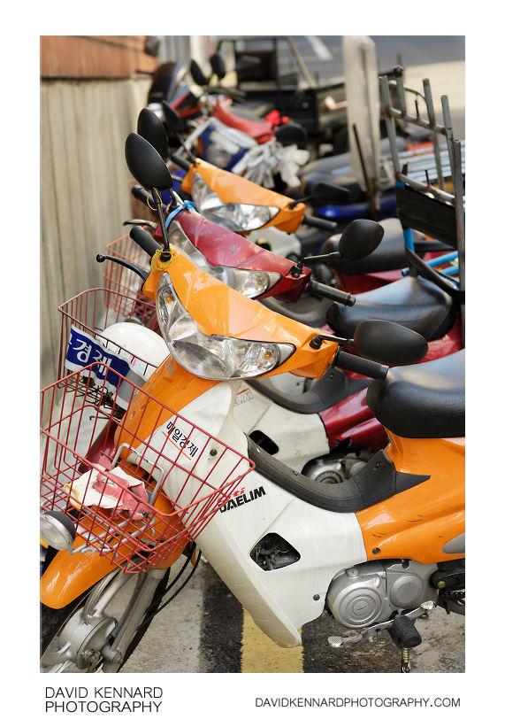 Line of Motorbikes