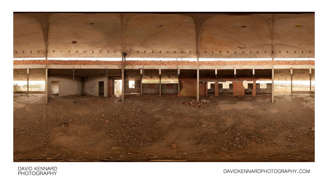 Circular room, abandoned Resort Medvezhonok