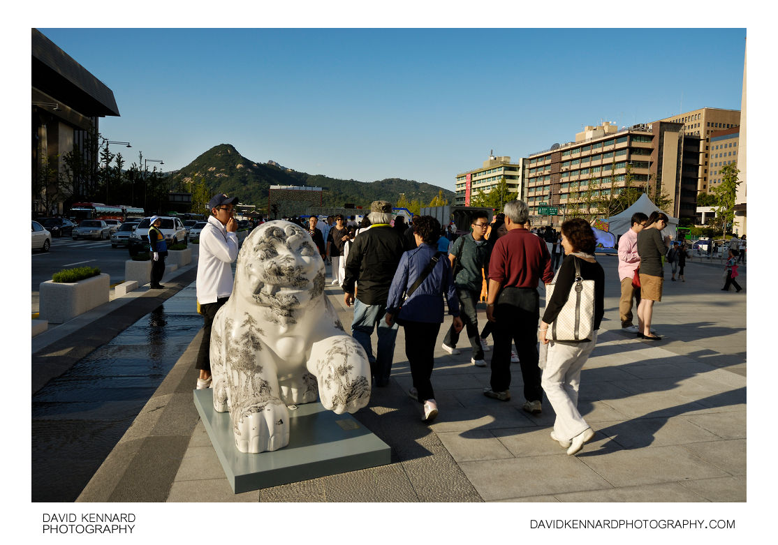 Haechi/Haetae on Gwanghwamun Plaza