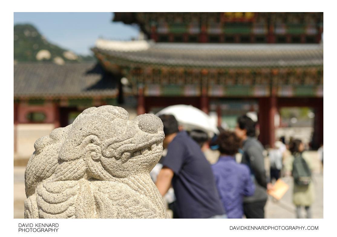 Dragon sculpture on Yeongjegyo Bridge