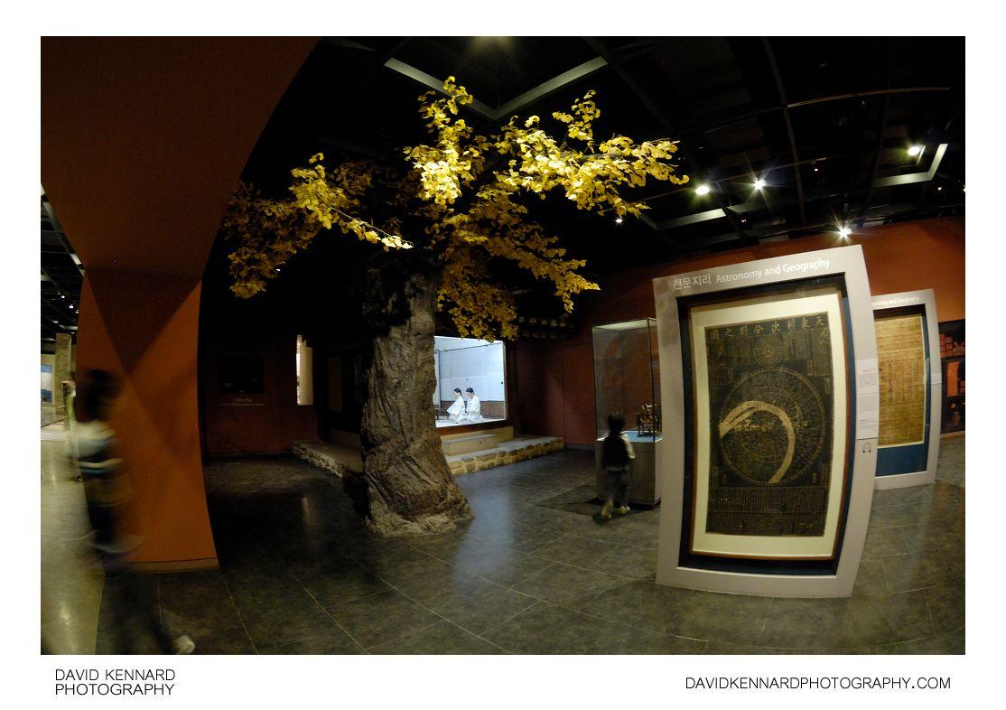 Artificial tree in museum