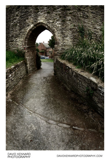 Doorway in Ludlow Castle Wall