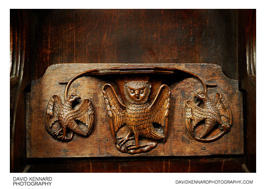 Misericord carving in the Parish Church of St Laurence, Ludlow