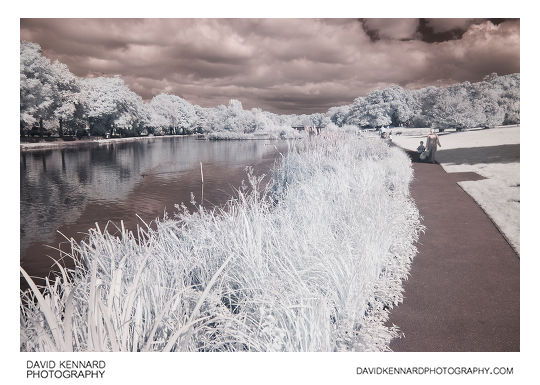 Infrared photo of Corby Boating Lake