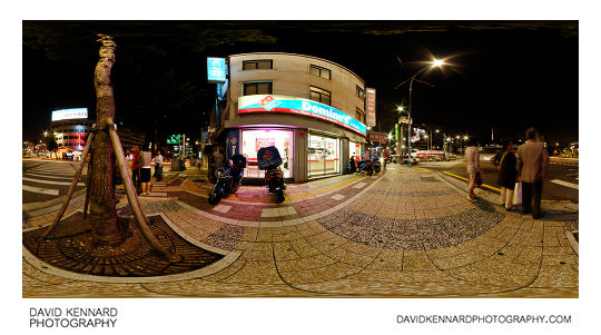 360° pano outside Domino's Myeong-dong at night