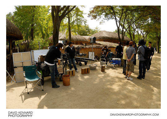 Film crew at the Korean Folk Village