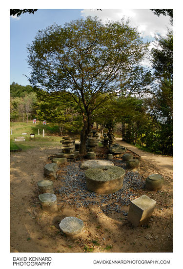 Stonework and tree, Korean Folk Village