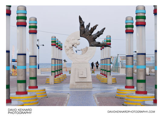 Sculpture at Sokcho beach
