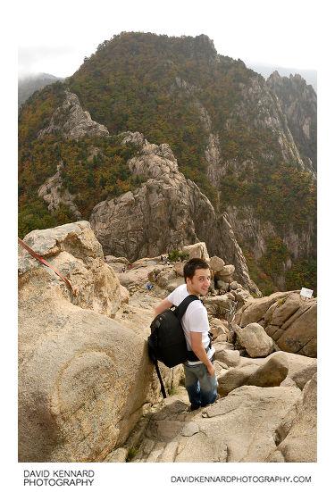 Climbing down Gwongeumseong, Mt. Sorak