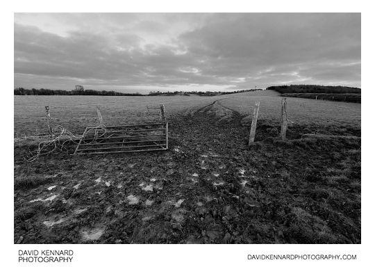 Muddy gateway, East Farndon