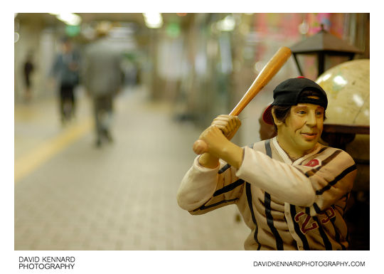 Baseball player in Seoul subway