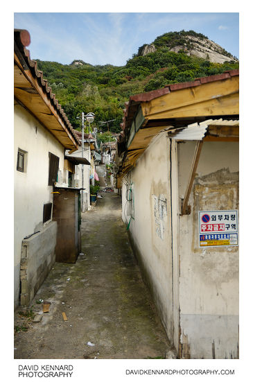 Small houses at bottom of Buramsan