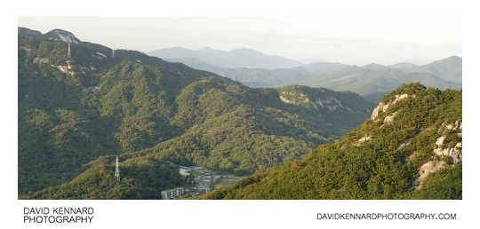 Buramsan, Suraksan, green tree covered mountains