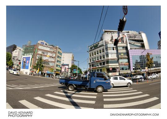 Pedestrian crossing on Jongno