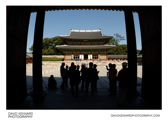 Injeongjeon through Injeongmun gate, Changdeokgung