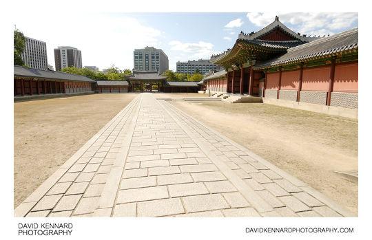 Injeong outer courtyard, Changdeokgung