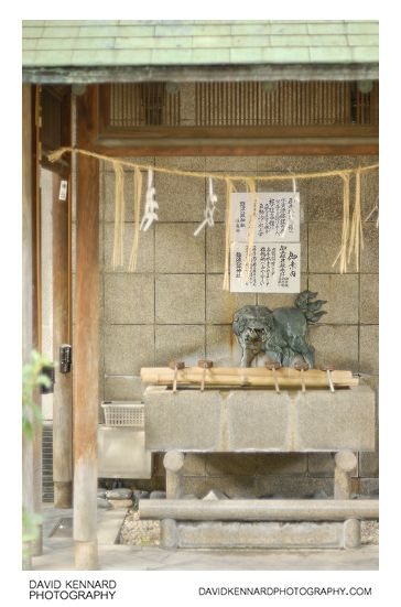 Temizuya at Namba Yasaka Jinja