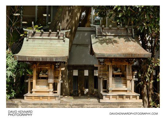 Mini shrines at Namba Yasaka Jinja