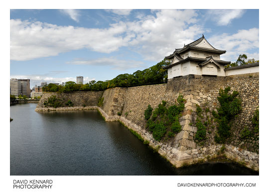 West outer moat and Sengan turret, Osaka castle