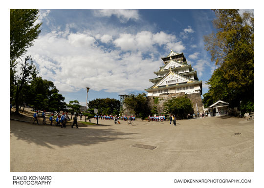 Square and Tenshukaku, Osaka Castle