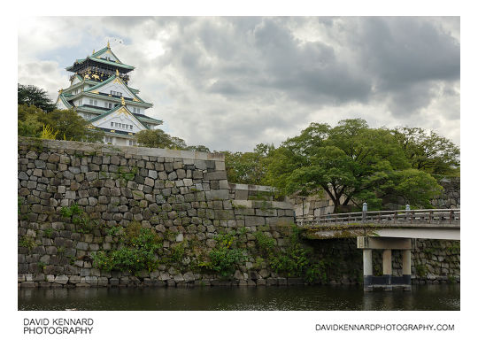 Osaka Castle inner moat and tower