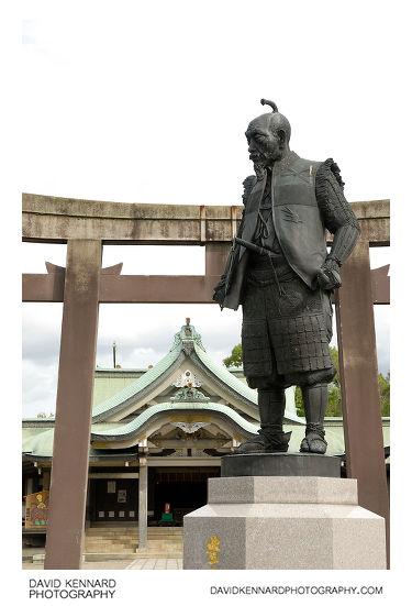 Toyotomi Hideyoshi statue at Hokoku Shrine, Osaka