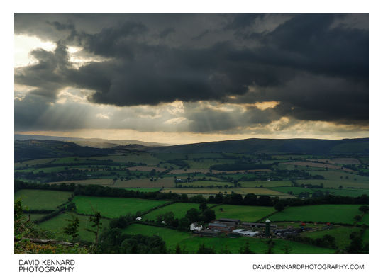 Fields and Clouds from top of Callow Hill, Shropshire