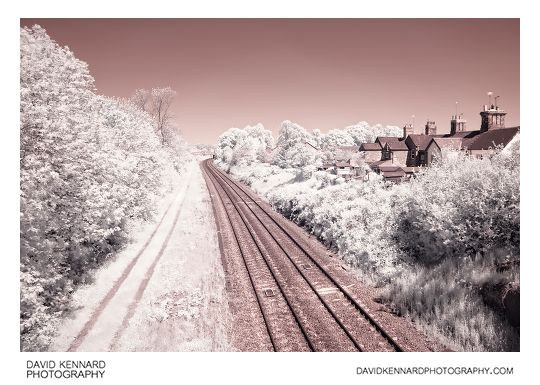 Midland Main Line Railway in Infrared