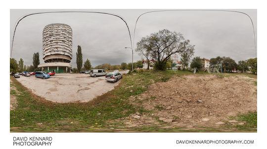 Romashka / Corncob building, Chişinău