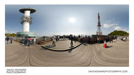 360° panorama from viewing platform outside the N Seoul Tower