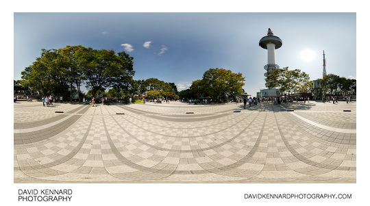 360° panorama from the square outside the N Seoul Tower