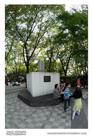 Samgakjeom 이등삼각점 on Namsan 남산