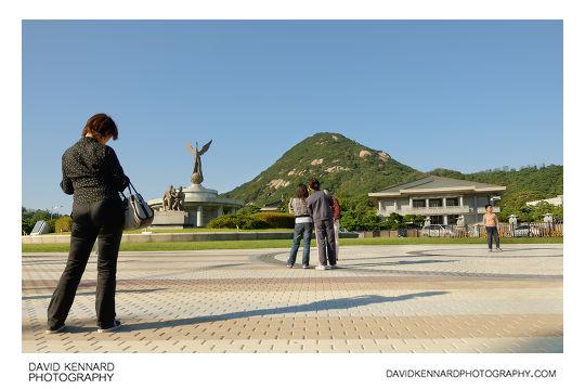 Square near Cheong Wa Dae
