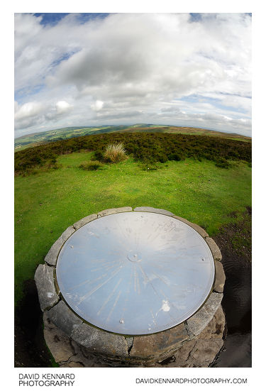 Dial at Pole Bank, Long Mynd, Shropshire
