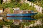 Boat and reflection, Grand Union Canal