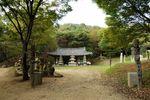 Entrance to stone sculptures area, Korean Folk Village