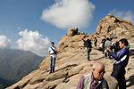 Tourists enjoy Gwongeumseong