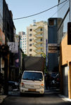 Van driving down Gyeonjidong-gil
