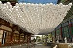 White paper lanterns, Jogyesa Temple