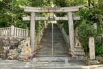 Steps up to Ōe Shrine