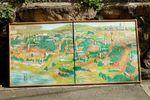 Old Osaka map painting