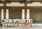 Komodaru sake barrels at Hōkoku jinja