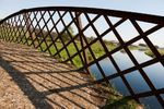 Lattice parapet on small bridge