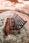 Seat on Lubenham Road in near infrared